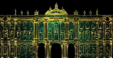 Musée de l'Ermitage-Video Mapping 2016